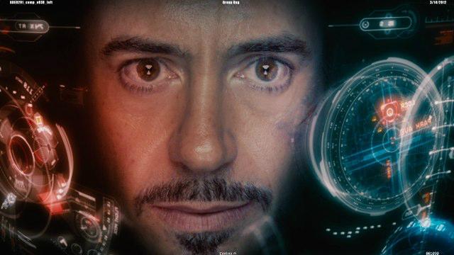영화 <아이언맨>에 묘사된 증강현실 기술의 예 출처: 영화 <아이언맨>의 한 장면