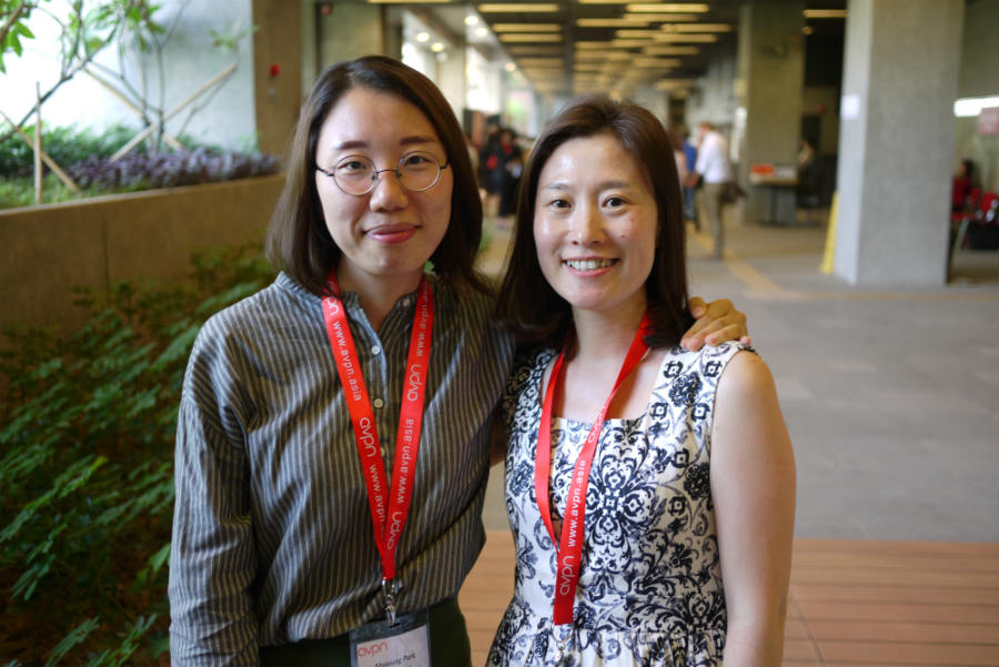AVPN의 한국 어드바이저 역할을 맡은 사회혁신 국제교류기관 C.(씨닷)의 한선경 대표(우)와 박아영 부대표.인터뷰 당일 한 대표의 부재로 박 부대표와 인터뷰를 진행하였습니다.©유승제